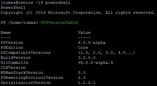 Version of PowerShell