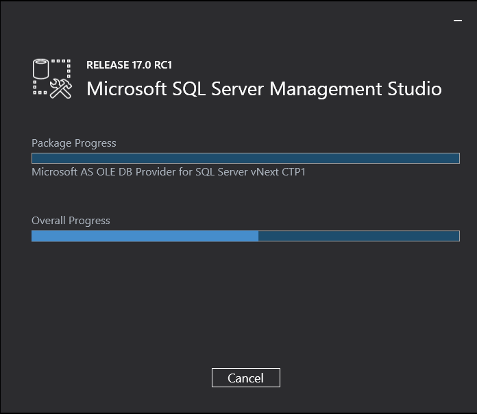 MSSQL Management Studio 17 RC1