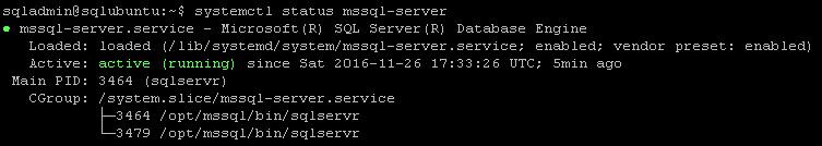 vNext Server Status